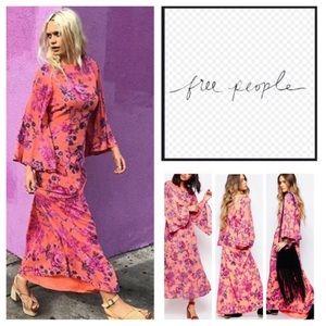 🆕Free People Melrose Bell Sleeve Maxi Dress. NWOT
